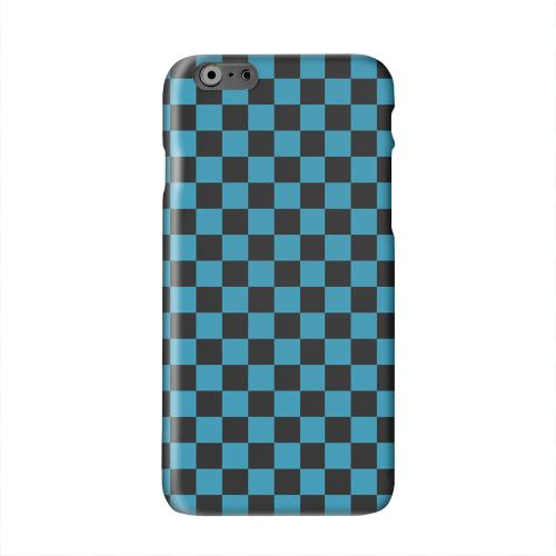 Aqua Blue/ Black Solid White Hard Case Cover for Apple iPhone 6 PLUS/6S PLUS (5.5 inch)
