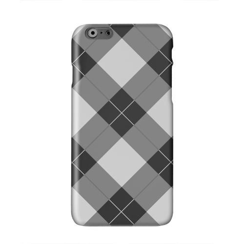 Black/ White/ Gray Plaid Solid White Hard Case Cover for Apple iPhone 6 PLUS/6S PLUS (5.5 inch)