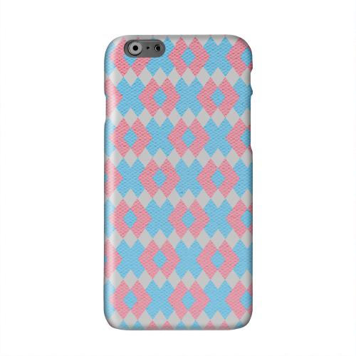 Blue/ Pink Embroidery Solid White Hard Case Cover for Apple iPhone 6 PLUS/6S PLUS (5.5 inch)