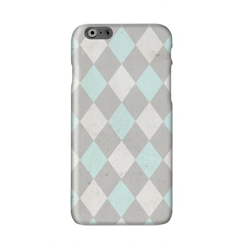 Grunge Pink/ Blue/ Gray Argyle Solid White Hard Case Cover for Apple iPhone 6 PLUS/6S PLUS (5.5 inch)