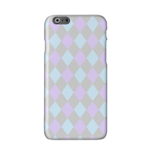 Gray/ Blue/ Purple Argyle Solid White Hard Case Cover for Apple iPhone 6 PLUS/6S PLUS (5.5 inch)