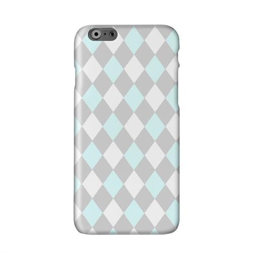 Pink/ Blue/ Gray Argyle Solid White Hard Case Cover for Apple iPhone 6 PLUS/6S PLUS (5.5 inch)