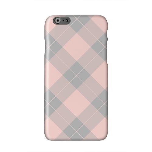 Pink/ Gray Simple Plaid Solid White Hard Case Cover for Apple iPhone 6 PLUS/6S PLUS (5.5 inch)