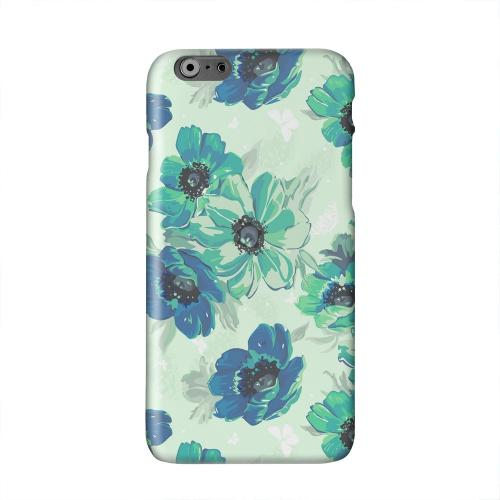 Blue/ Green Floral Solid White Hard Case Cover for Apple iPhone 6 PLUS/6S PLUS (5.5 inch)