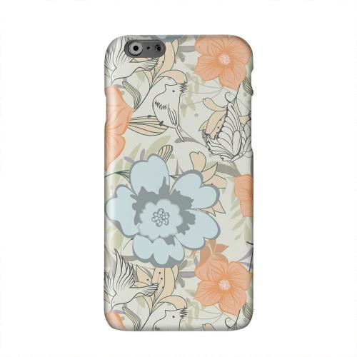 Butterflies & Birds on Orange/ Blue Solid White Hard Case Cover for Apple iPhone 6 PLUS/6S PLUS (5.5 inch)