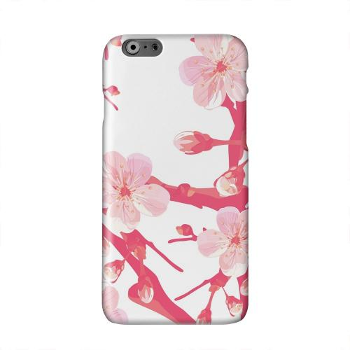 Hot Pink Cherry Blossom Solid White Hard Case Cover for Apple iPhone 6 PLUS/6S PLUS (5.5 inch)