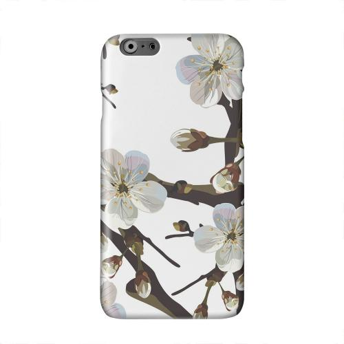 White Cherry Blossom Solid White Hard Case Cover for Apple iPhone 6 PLUS/6S PLUS (5.5 inch)