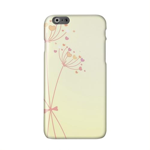 Dandelion Hearts on Yellow Solid White Hard Case Cover for Apple iPhone 6 PLUS/6S PLUS (5.5 inch)