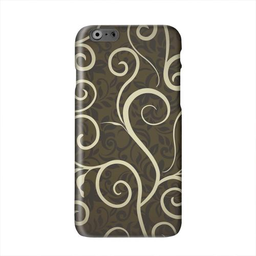 Elegant Dark Vines Solid White Hard Case Cover for Apple iPhone 6 PLUS/6S PLUS (5.5 inch)