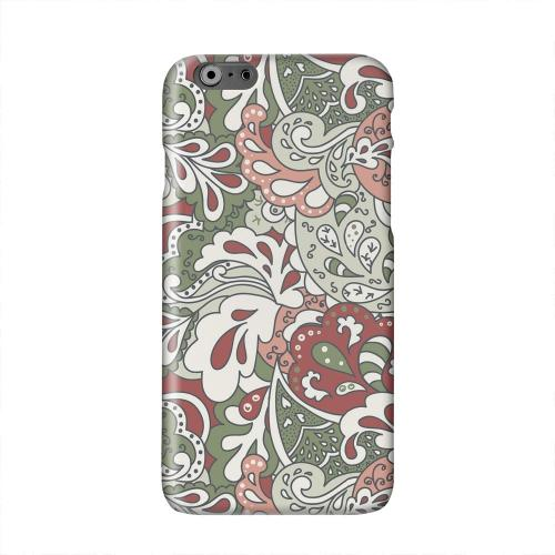 Green/ Red/ Pink Paisley Solid White Hard Case Cover for Apple iPhone 6 PLUS/6S PLUS (5.5 inch)