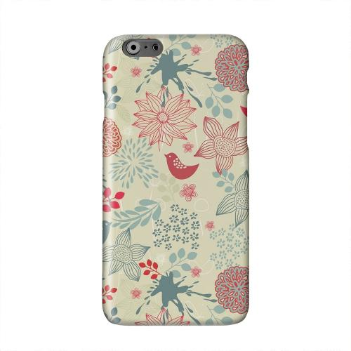 Lovebird Floral Splatter Solid White Hard Case Cover for Apple iPhone 6 PLUS/6S PLUS (5.5 inch)