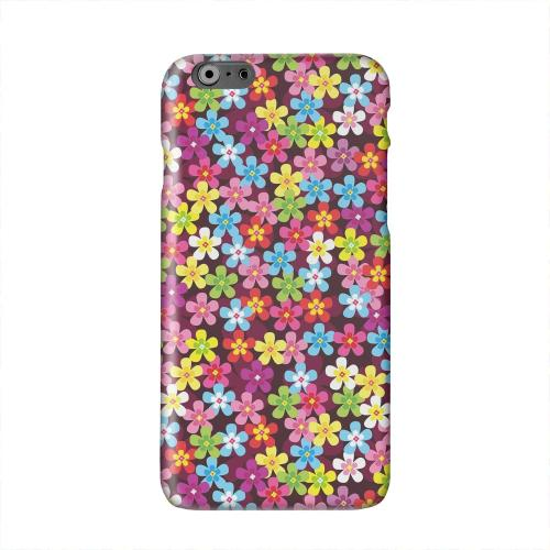 Multi-Colored Flowers Solid White Hard Case Cover for Apple iPhone 6 PLUS/6S PLUS (5.5 inch)
