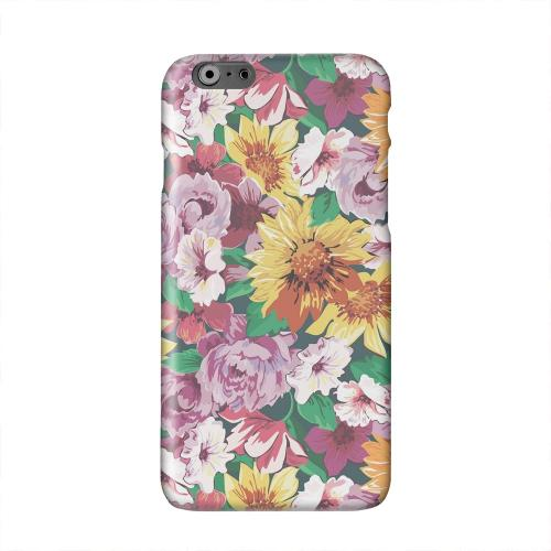 Pink/ Orange Flowers Solid White Hard Case Cover for Apple iPhone 6 PLUS/6S PLUS (5.5 inch)