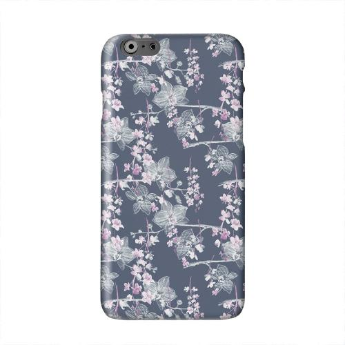Pink/ White Floral on Blue Solid White Hard Case Cover for Apple iPhone 6 PLUS/6S PLUS (5.5 inch)