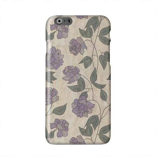 Purple Flowers & Vines Wallpaper Solid White Hard Case Cover for Apple iPhone 6 PLUS/6S PLUS (5.5 inch)