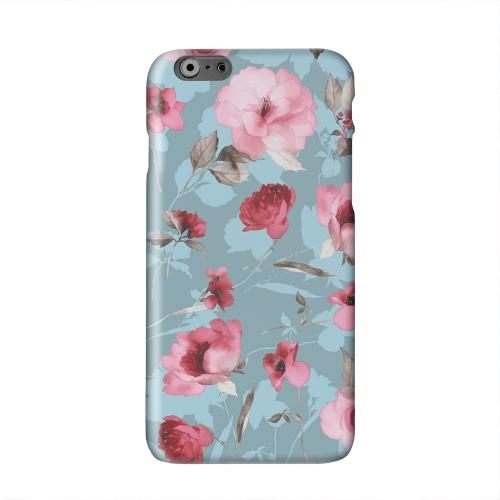 Vintage Watercolor Roses Solid White Hard Case Cover for Apple iPhone 6 PLUS/6S PLUS (5.5 inch)