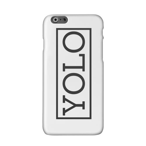 Black/ White YOLO Solid White Hard Case Cover for Apple iPhone 6 PLUS/6S PLUS (5.5 inch)