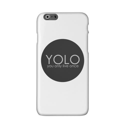 YOLO Circle Solid White Hard Case Cover for Apple iPhone 6 PLUS/6S PLUS (5.5 inch)