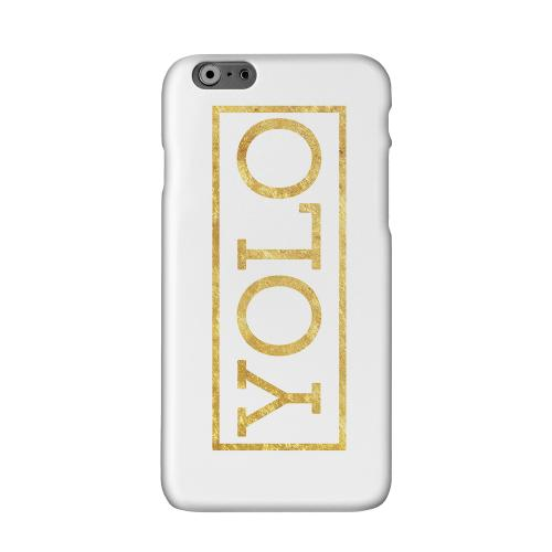 Gold YOLO Solid White Hard Case Cover for Apple iPhone 6 PLUS/6S PLUS (5.5 inch)