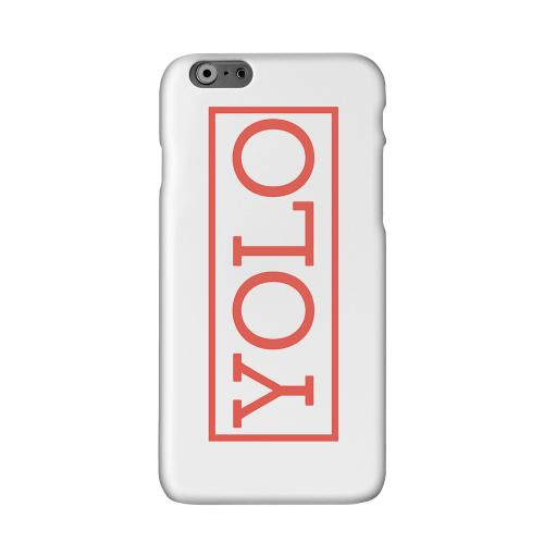 Red YOLO Solid White Hard Case Cover for Apple iPhone 6 PLUS/6S PLUS (5.5 inch)