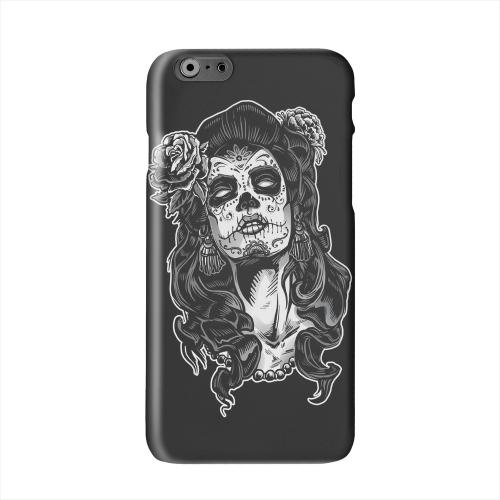 Day of the Dead Girl on Black Solid White Hard Case Cover for Add Apple iPhone 6 PLUS/6S PLUS (5.5 inch)
