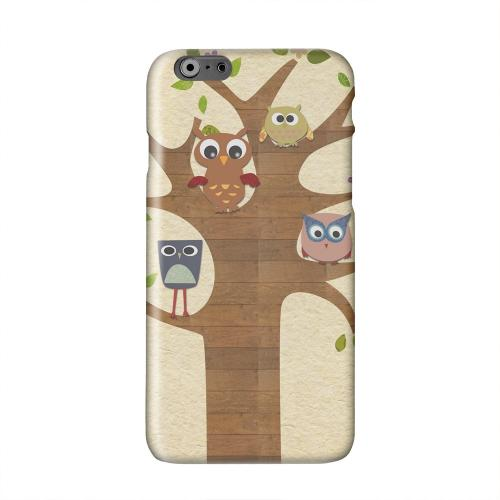 Owls on Brown Tree Solid White Hard Case Cover for Add Apple iPhone 6 PLUS/6S PLUS (5.5 inch)