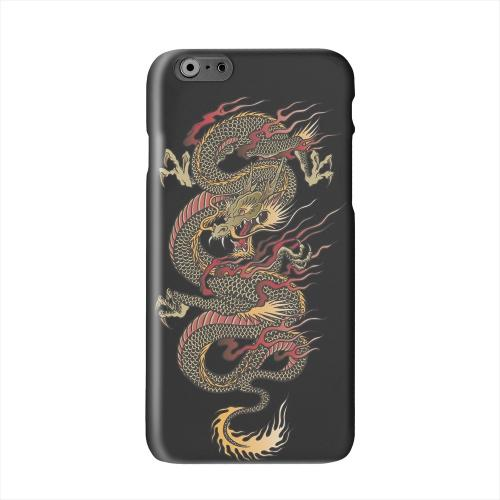 Dragon on Black Solid White Hard Case Cover for Add Apple iPhone 6 PLUS/6S PLUS (5.5 inch)