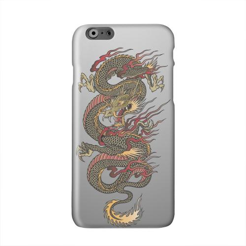 Dragon on Gray Gradient Solid White Hard Case Cover for Add Apple iPhone 6 PLUS/6S PLUS (5.5 inch)