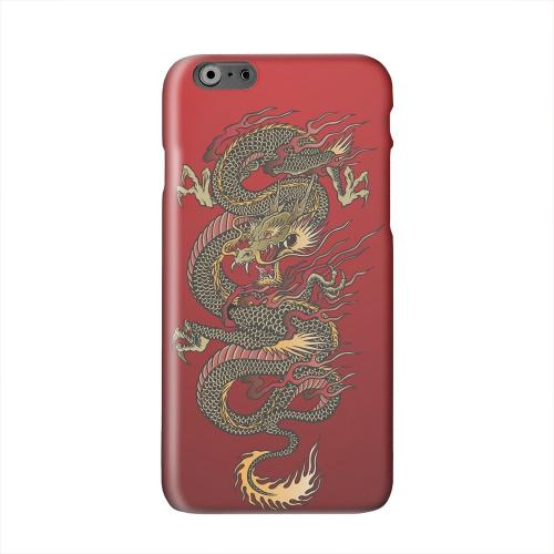 Dragon on Red Gradient Solid White Hard Case Cover for Add Apple iPhone 6 PLUS/6S PLUS (5.5 inch)