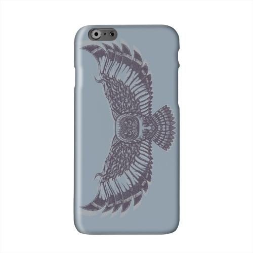 Flying Owl Blue/ Gray Solid White Hard Case Cover for Add Apple iPhone 6 PLUS/6S PLUS (5.5 inch)