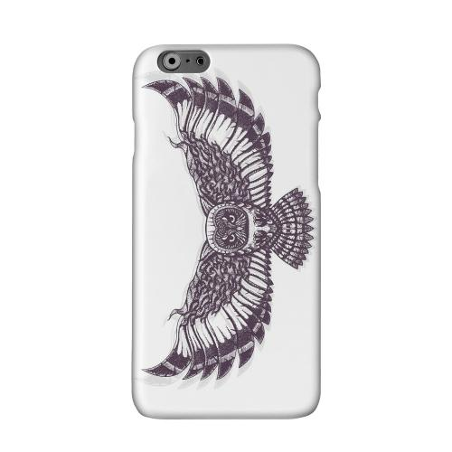 Flying Owl on White Solid White Hard Case Cover for Add Apple iPhone 6 PLUS/6S PLUS (5.5 inch)