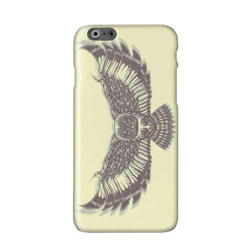 Flying Owl on Yellow Solid White Hard Case Cover for Add Apple iPhone 6 PLUS/6S PLUS (5.5 inch)