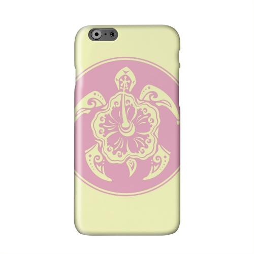 Pink Island Turtle Solo on Yellow Solid White Hard Case Cover for Add Apple iPhone 6 PLUS/6S PLUS (5.5 inch)