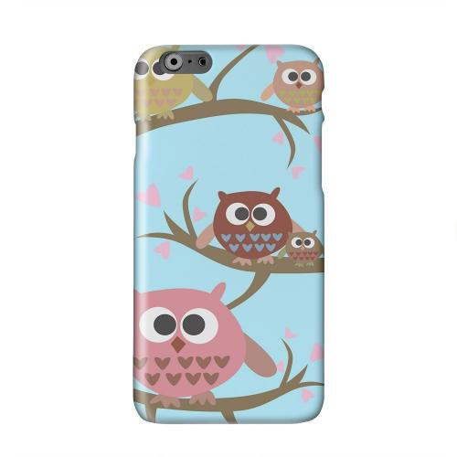 Round Owl Hangout Solid White Hard Case Cover for Apple iPhone 6 PLUS/6S PLUS (5.5 inch)