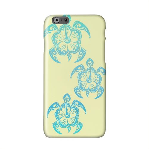 Blue Island Turtle Trail on yellow Solid White Hard Case Cover for Apple iPhone 6 PLUS/6S PLUS (5.5 inch)