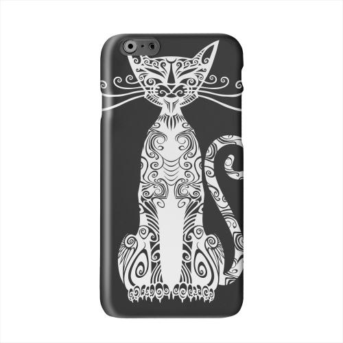 Kitty Nouveau on Black Solid White Hard Case Cover for Apple iPhone 6 PLUS/6S PLUS (5.5 inch)