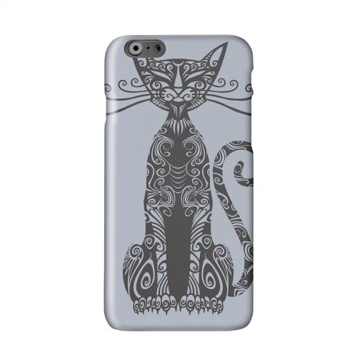 Kitty Nouveau on Blue/ Gray Solid White Hard Case Cover for Apple iPhone 6 PLUS/6S PLUS (5.5 inch)