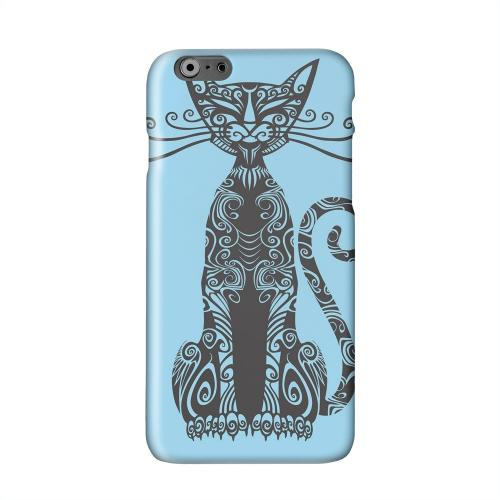 Kitty Nouveau on Light Blue Solid White Hard Case Cover for Apple iPhone 6 PLUS/6S PLUS (5.5 inch)