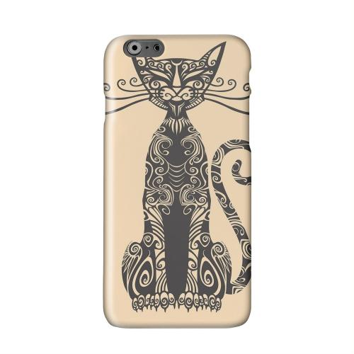 Kitty Nouveau on Peach Solid White Hard Case Cover for Apple iPhone 6 PLUS/6S PLUS (5.5 inch)