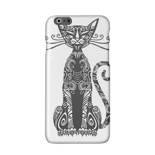Kitty Nouveau on White Solid White Hard Case Cover for Apple iPhone 6 PLUS/6S PLUS (5.5 inch)