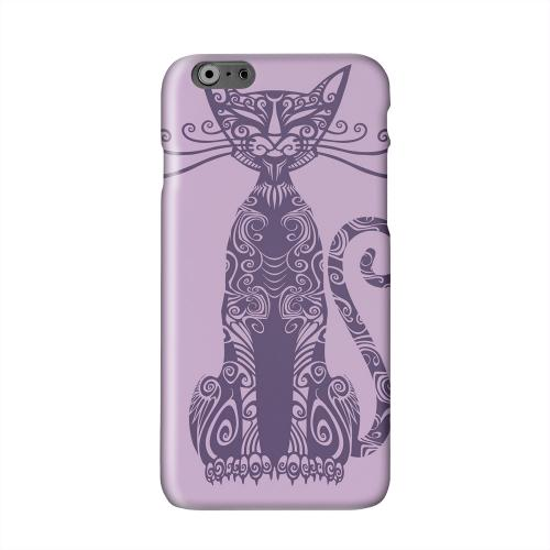 Kitty Nouveau on Purple Solid White Hard Case Cover for Apple iPhone 6 PLUS/6S PLUS (5.5 inch)