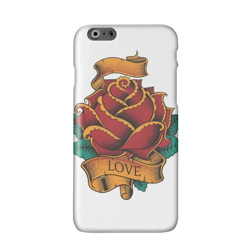 Love Rose on White Solid White Hard Case Cover for Apple iPhone 6 PLUS/6S PLUS (5.5 inch)