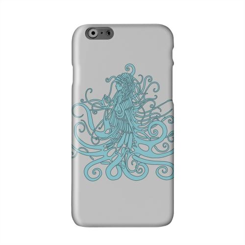 Aqua Medusa on White Solid White Hard Case Cover for Apple iPhone 6 PLUS/6S PLUS (5.5 inch)