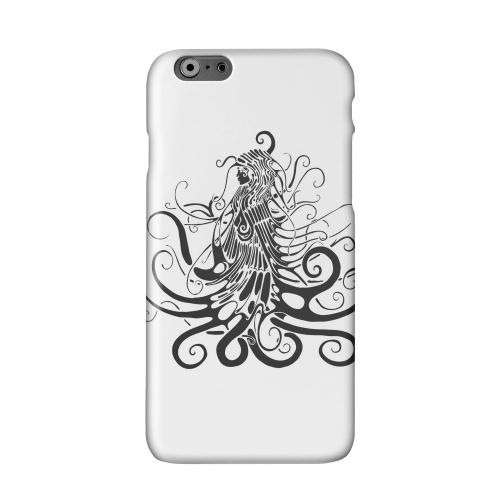 Black Medua on White Solid White Hard Case Cover for Apple iPhone 6 PLUS/6S PLUS (5.5 inch)
