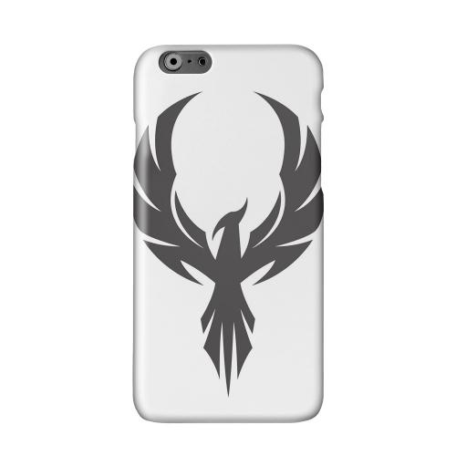 Black Phoenix on White Solid White Hard Case Cover for Apple iPhone 6 PLUS/6S PLUS (5.5 inch)