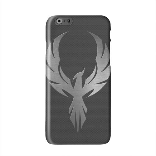 Phoenix Metal on Dark Gray Texture Solid White Hard Case Cover for Apple iPhone 6 PLUS/6S PLUS (5.5 inch)