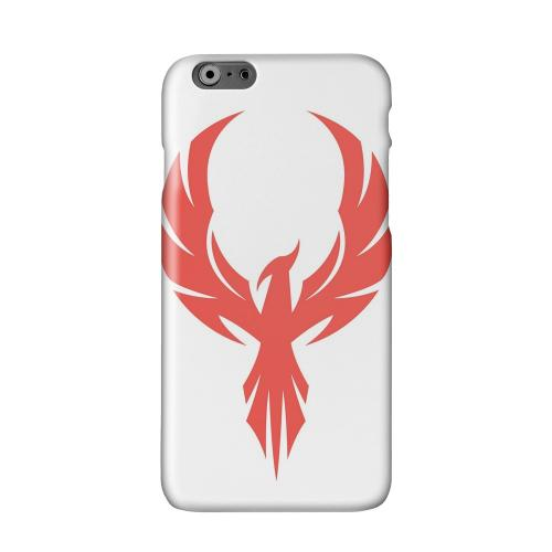 Phoenix Red on White Solid White Hard Case Cover for Apple iPhone 6 PLUS/6S PLUS (5.5 inch)