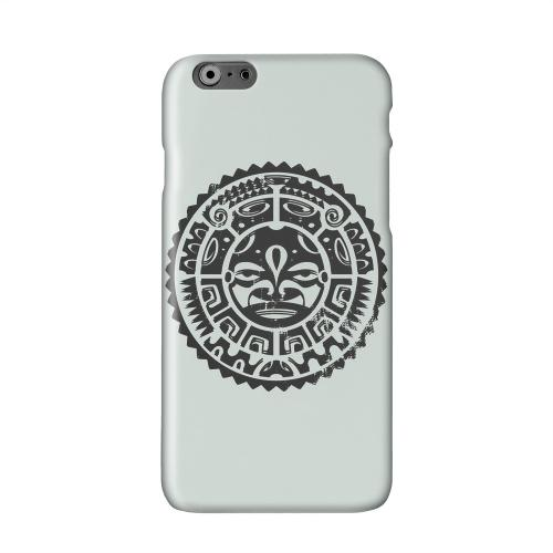 Polynesian Face on Gray Solid White Hard Case Cover for Apple iPhone 6 PLUS/6S PLUS (5.5 inch)