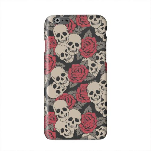 Rose Skulls Solid White Hard Case Cover for Apple iPhone 6 PLUS/6S PLUS (5.5 inch)