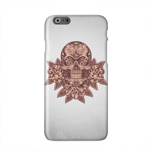 Skull Roses Red Grunge Solid White Hard Case Cover for Apple iPhone 6 PLUS/6S PLUS (5.5 inch)